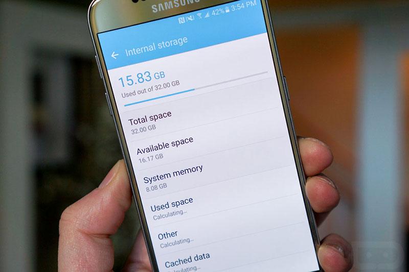 حافظه داخلی گوشی اندروید