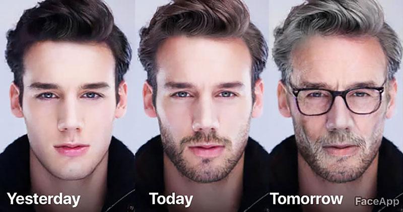 پیر کردن چهره با فیس اپ