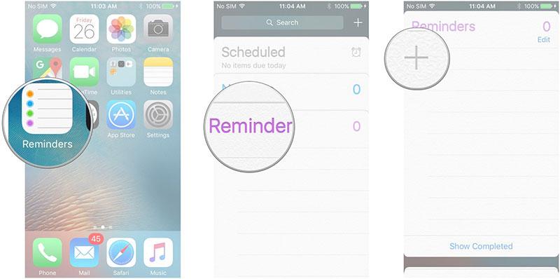 اپلیکیشن Reminder