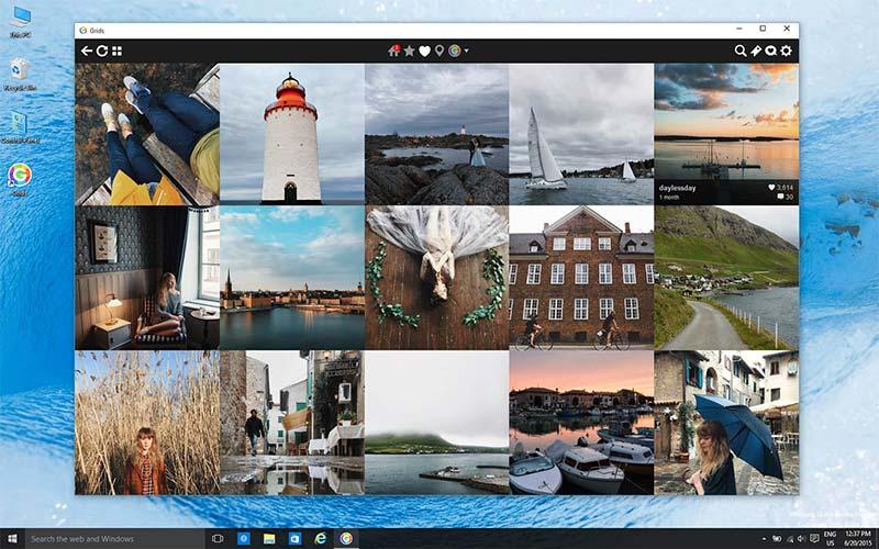 برنامه اینستاگرام در ویندوز کامپیوتر